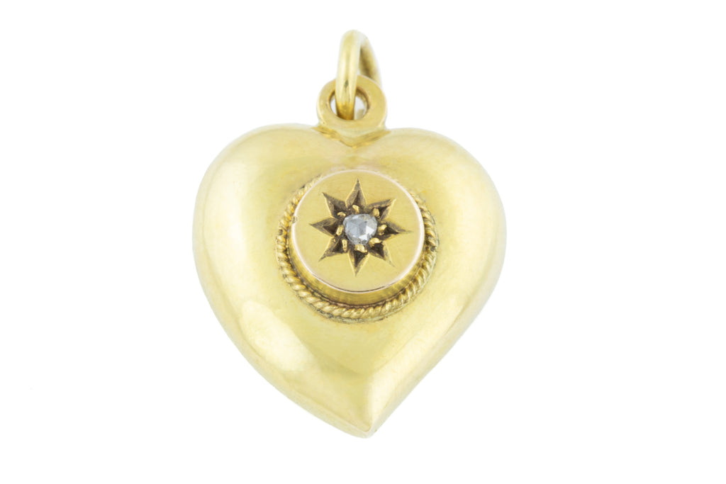 Antique Gold Heart Charm Pendant