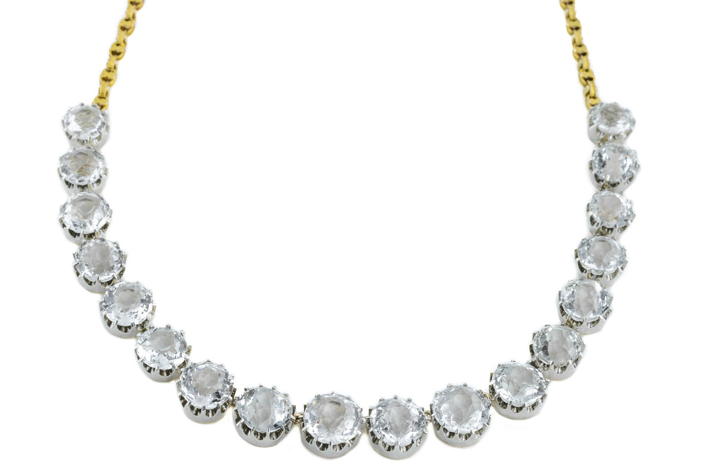 Antique Rock Crystal Riviere Necklace (35.46ct)