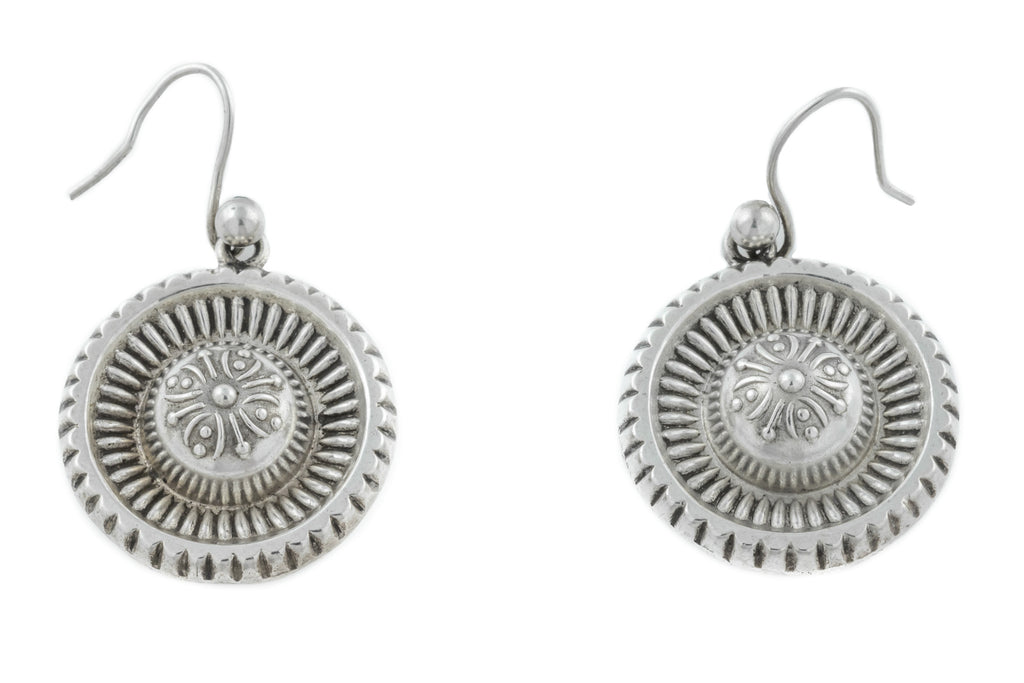 Antique Etruscan Silver Earrings c.1880