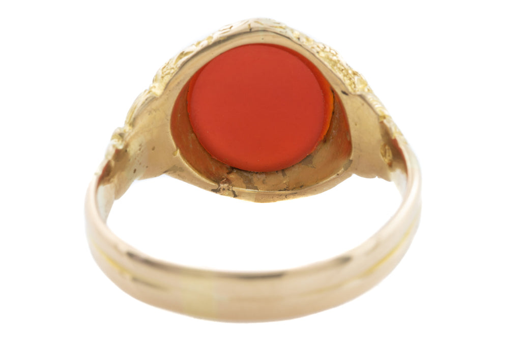 18ct Gold Victorian Agate Signet Ring, c.1890