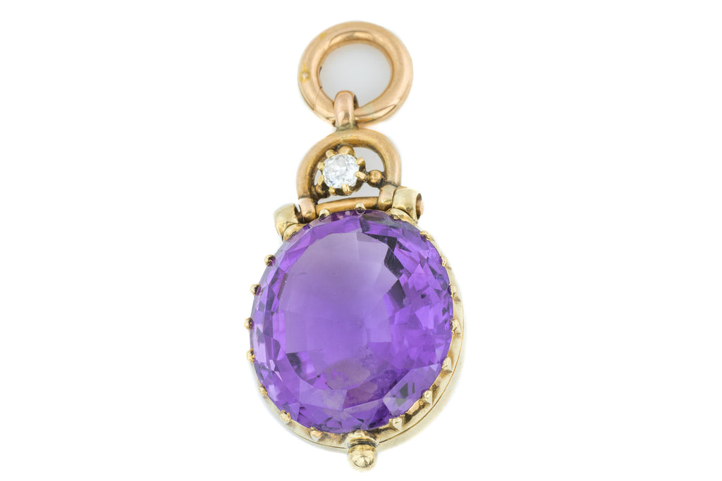 Victorian Amethyst and Diamond Pendant (18.33ct)