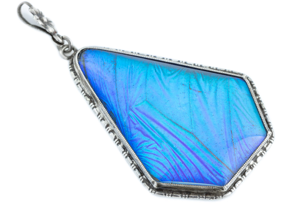 Art Deco Butterfly Wing Pendant, with Adjustable Chain