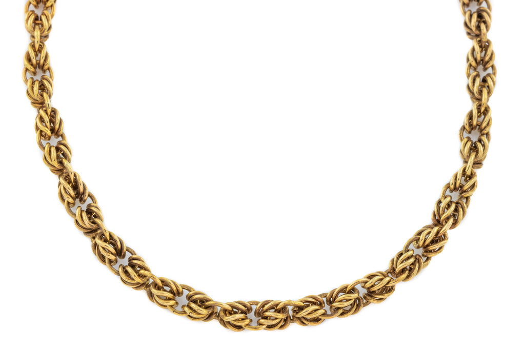 Fancy 9ct Gold Victorian Lovers Knot Chain 14.3g - 21""