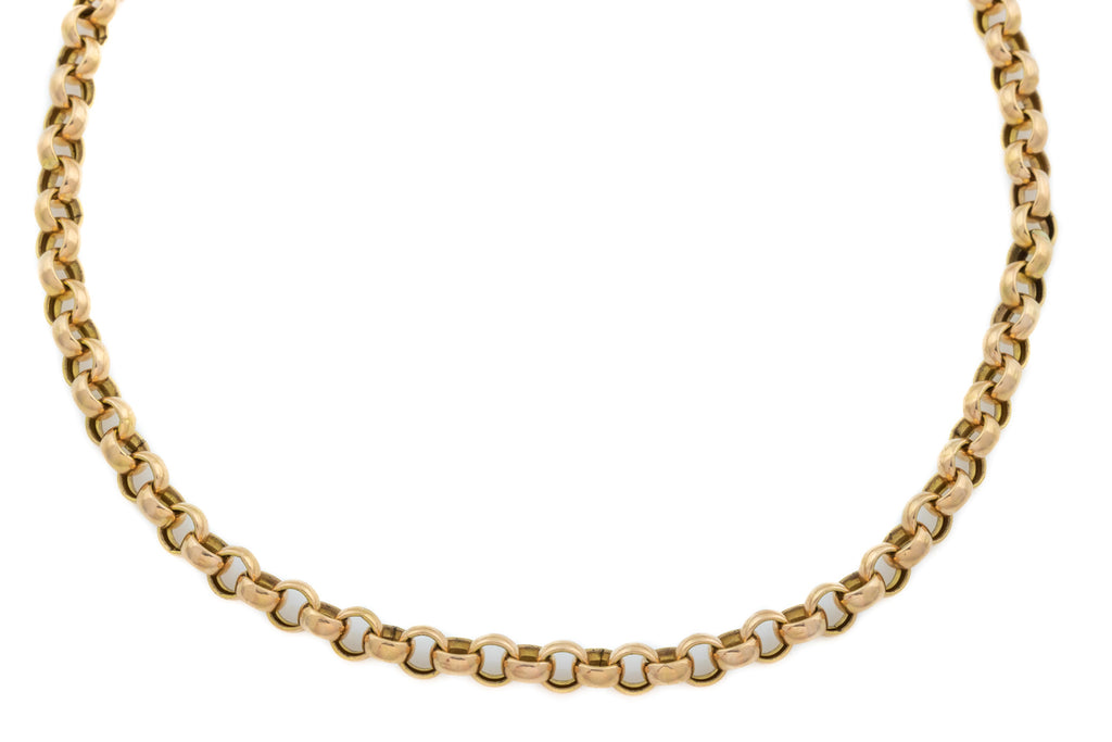 "9ct Rose Gold Victorian Belcher Chain, 14.6g (24"")"