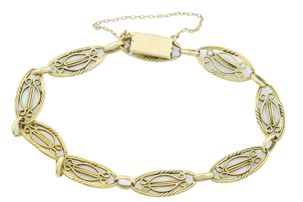 French Antique 18ct Gold Bracelet, 11.6g