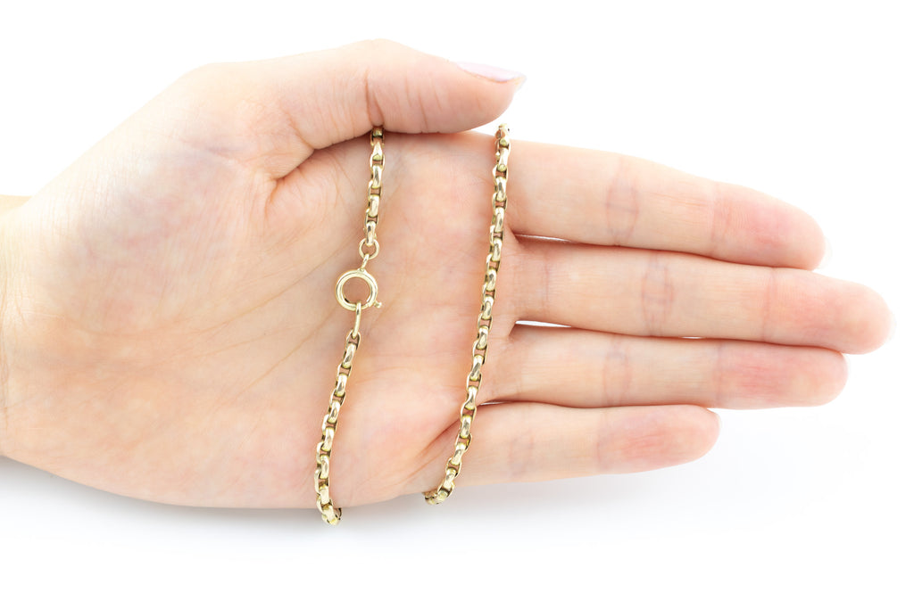 "Antique 9ct Gold Belcher Chain Necklace, 18"" (10.1g)"