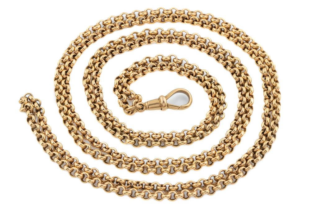 "Victorian 9ct Gold Belcher Chain Necklace, 49"" (21.2g)"