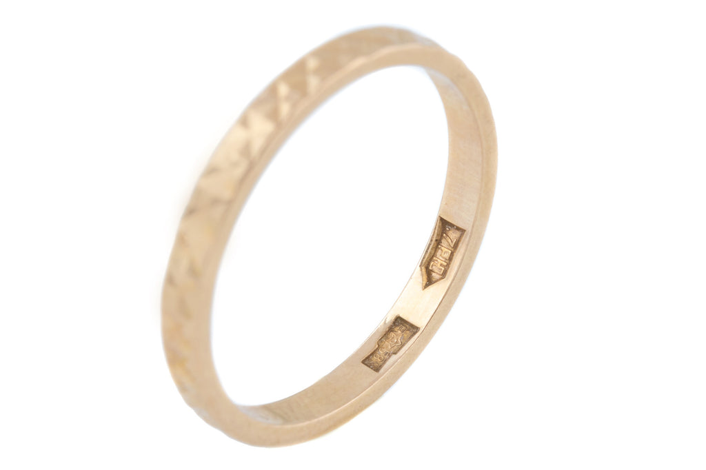 Vintage Russian 14ct Gold Wedding Band