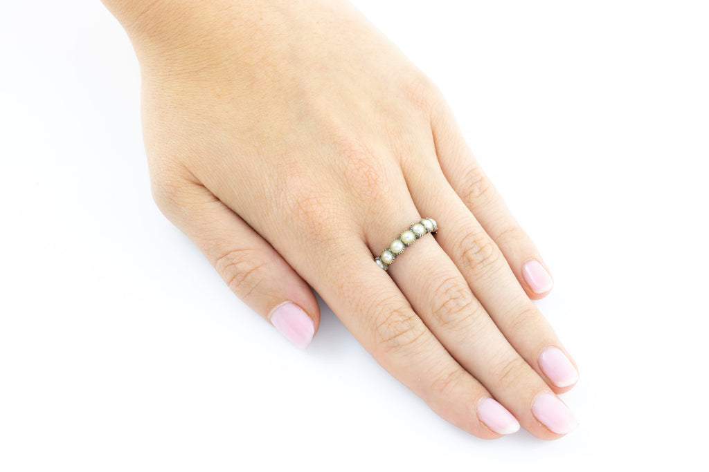 Georgian 12ct Gold Pearl Ring