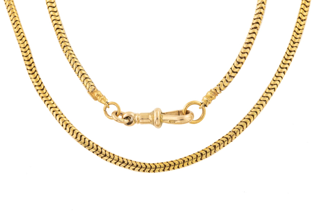 "Antique Gold Thick Snake Chain, 23 & 1/4"" (18.8g)"
