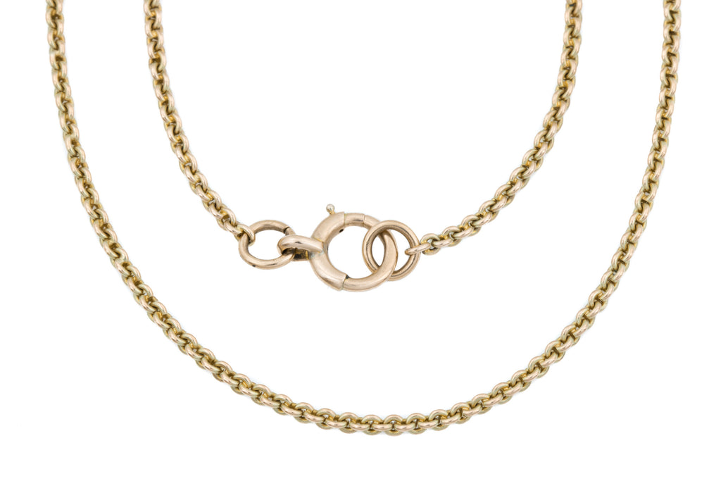 "Extra Long 9ct Gold Antique Belcher Link Chain, 55"" (28g)"