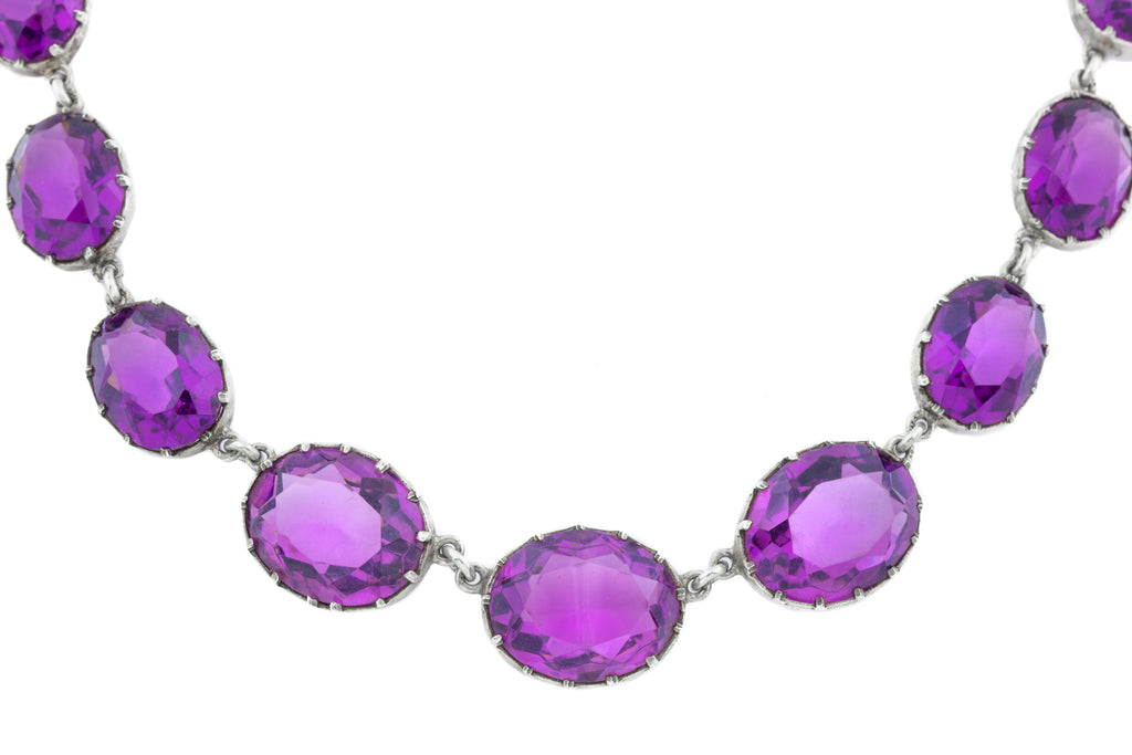 Antique Amethyst Riviere Necklace (69.46ct), 17""