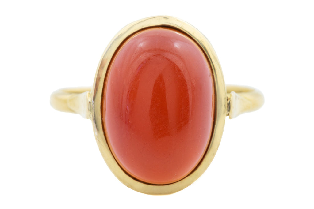 18ct Gold Carnelian Ring