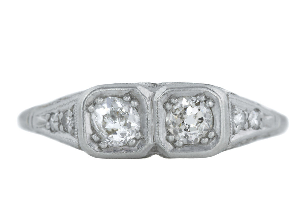 "Art Deco Diamond ""Toi-et-Moi"" Ring (0.30ct)"