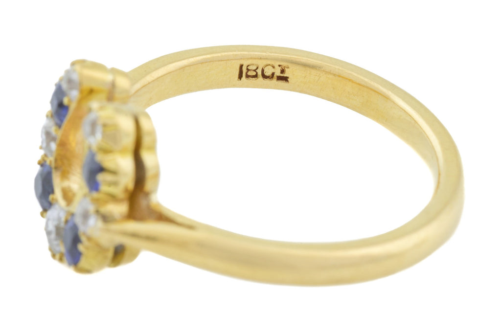 Victorian 18ct Gold Horseshoe Ring (0.21ct)