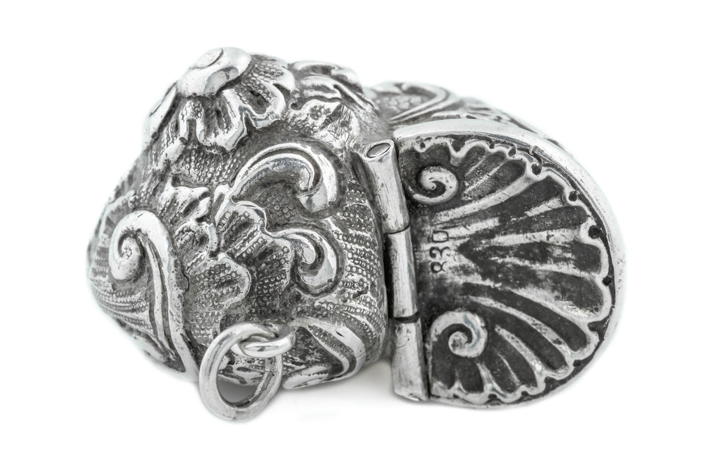 Antique Silver Pomander Locket