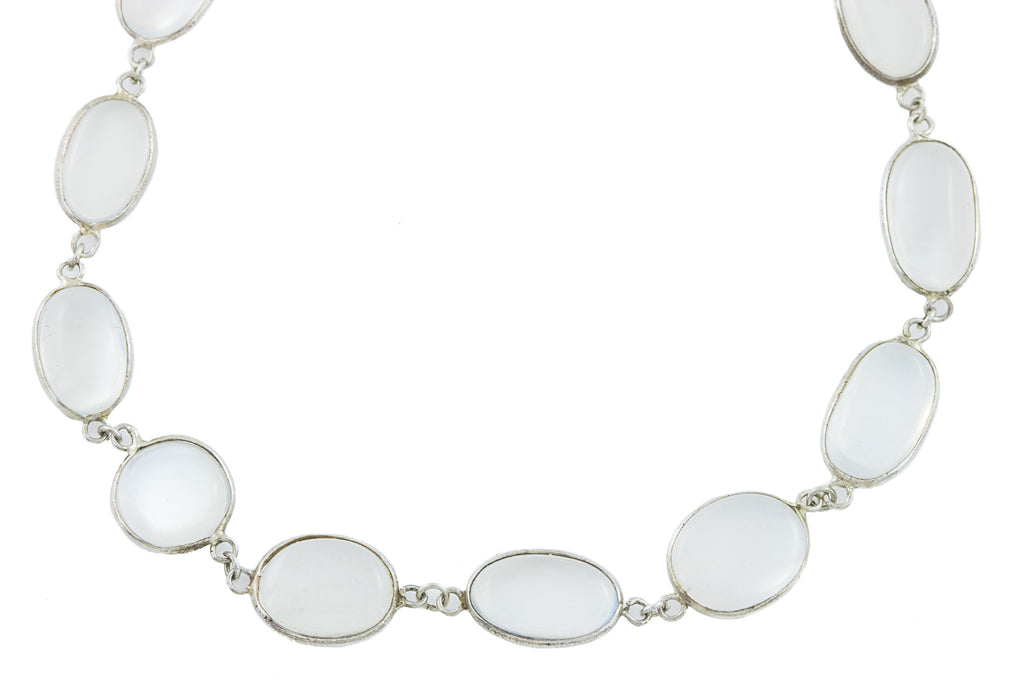 Antique Moonstone Necklace (62.23ct), 21""