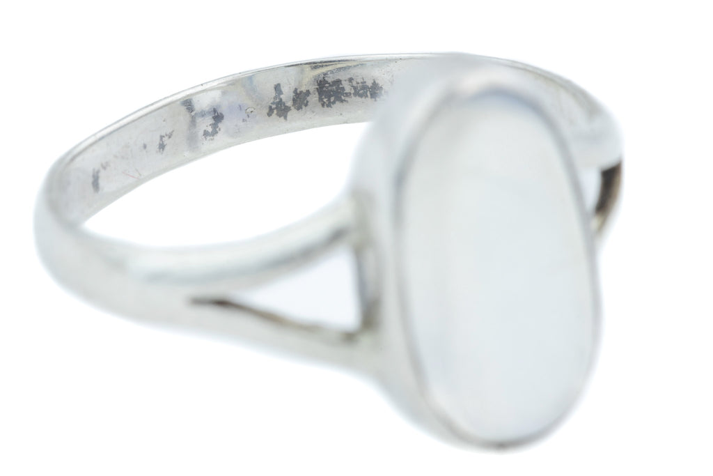 Antique Silver Oval Moonstone Ring (0.80ct)