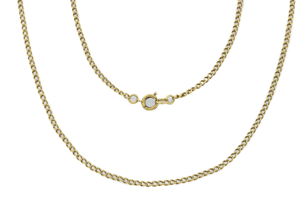 "Vintage 9ct Gold Chain Necklace 23"", 3.4g"