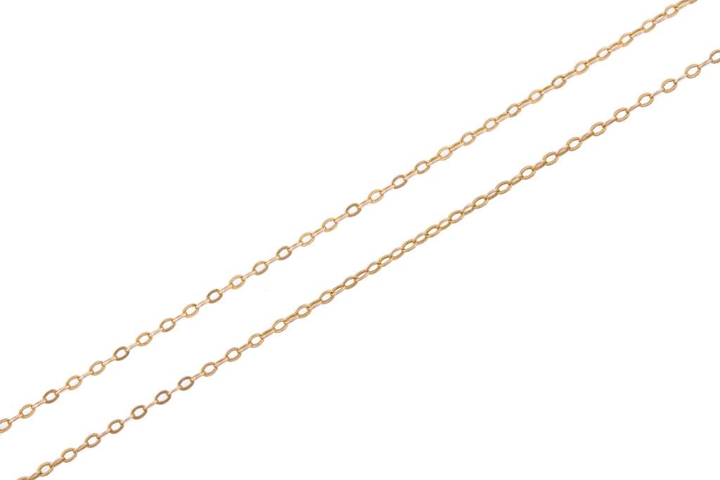 Antique 9ct Rose Gold Trace Chain, 30""