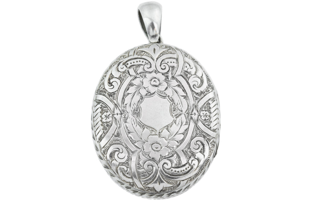 Scottish Agate Victorian Silver Oval Locket