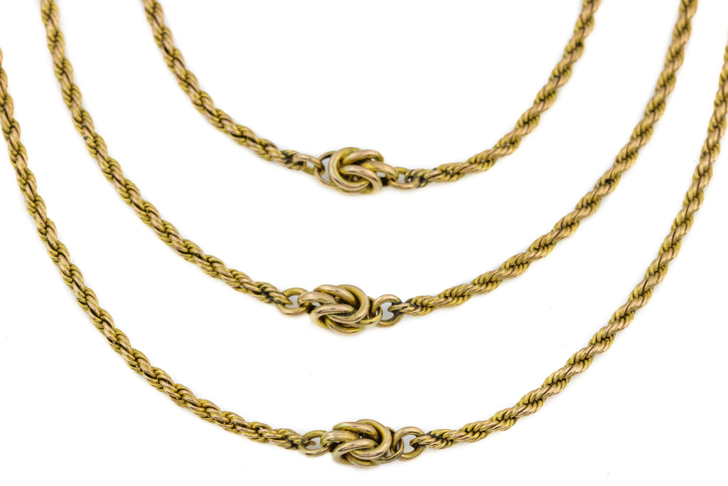 "9ct Gold Victorian Multi-layer Statement Necklace, 25.4g (17.5"")"