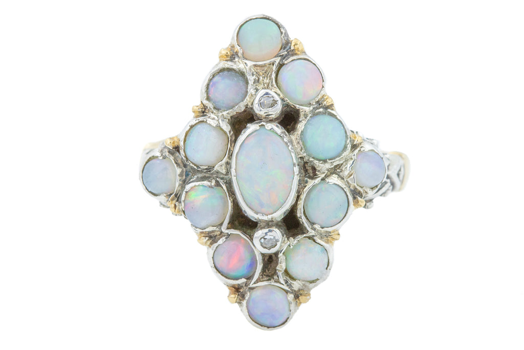18ct Gold Opal Cluster Ring