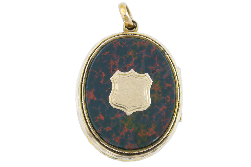Victorian 9ct Gold Bloodstone Carnelian Locket