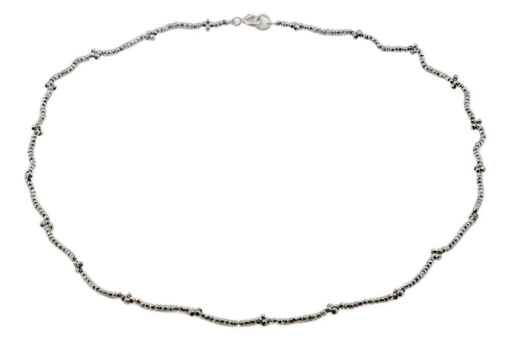 Georgian Cut Steel Chain Necklace, 16""