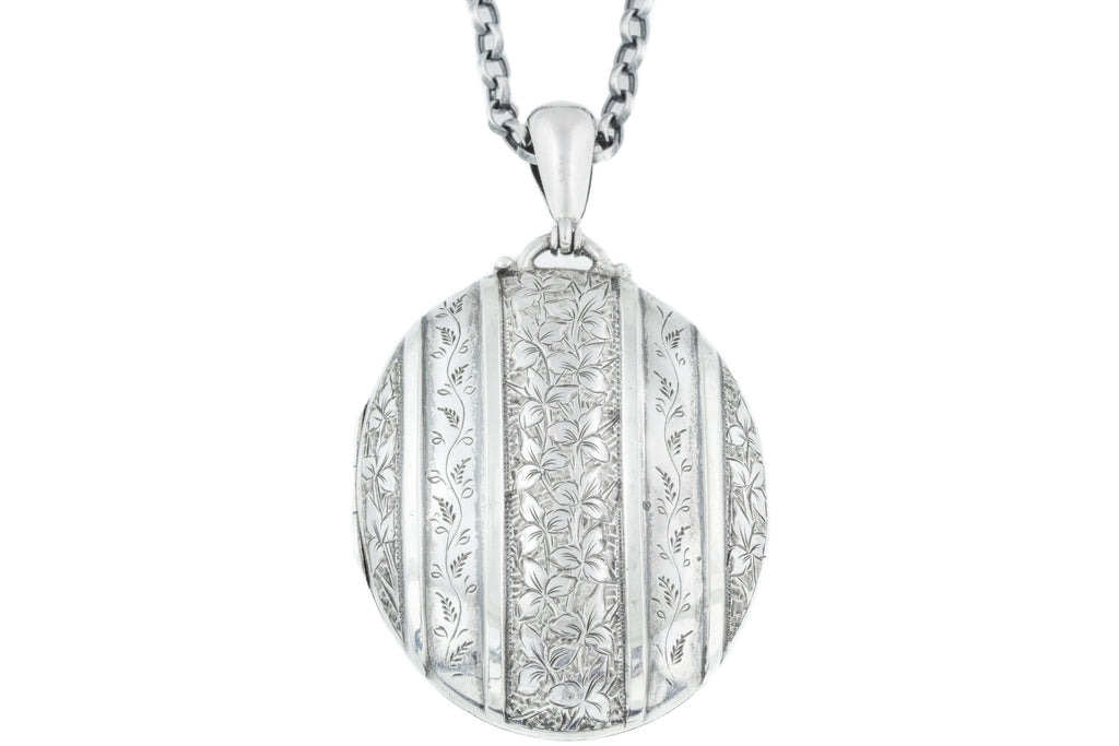 Large Silver Victorian Aesthetic Locket c.1880