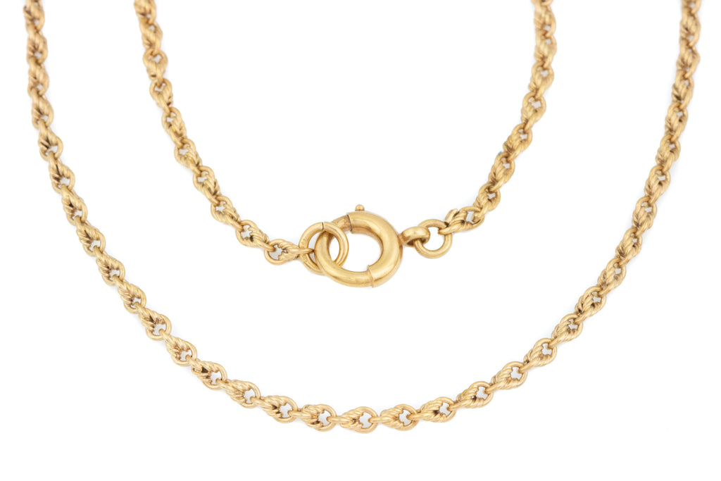 9ct Gold Victorian Lover's Knot Chain, 29""