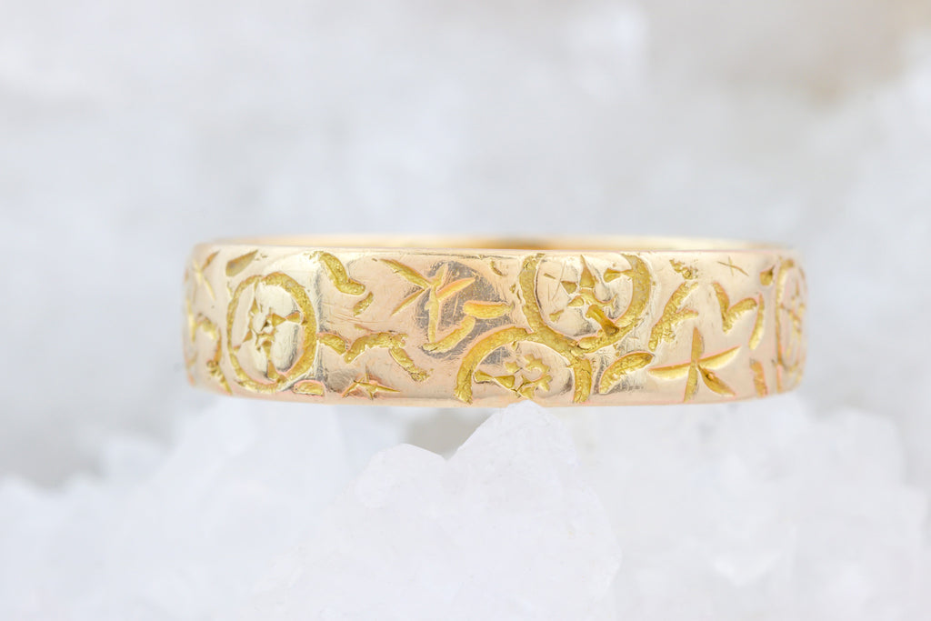 Antique 18ct Gold Wedding Band c.1905