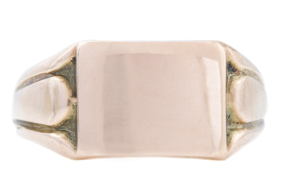 Art Deco 9ct Gold Signet Ring c.1924