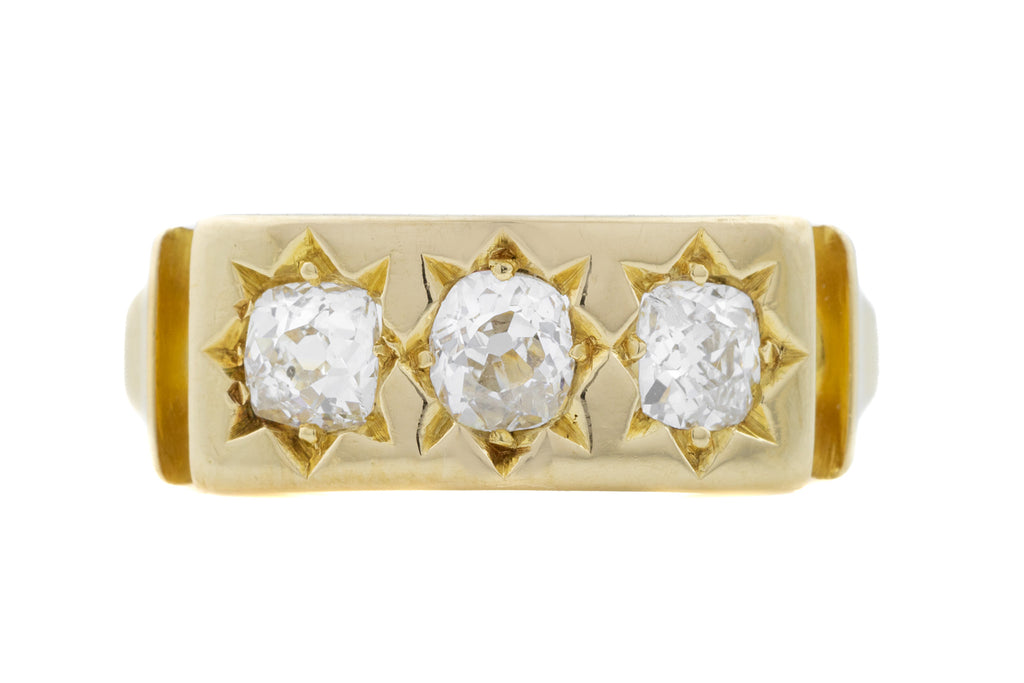 Antique Diamond Trilogy Ring (0.55ct)