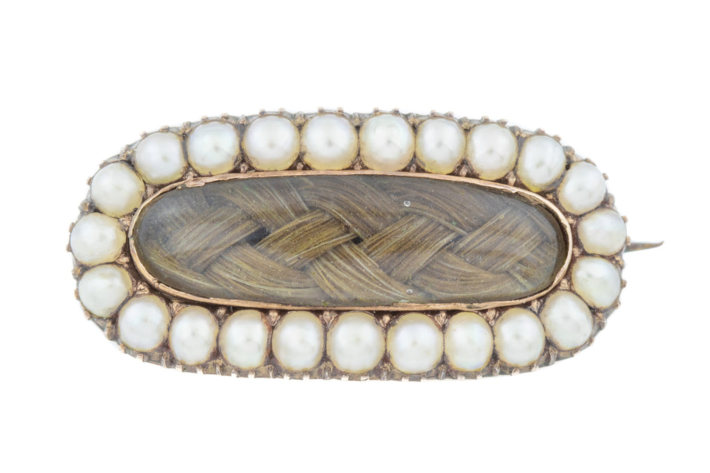 Georgian Pearl Mourning Brooch c.1820