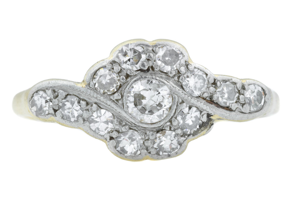 Art Deco Diamond Cluster Ring (0.30ct)