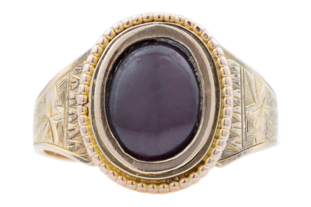 Antique Garnet Solitaire Ring c.1910