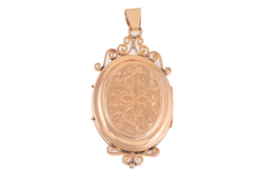 Antique French 18ct Gold Seed Pearl Locket