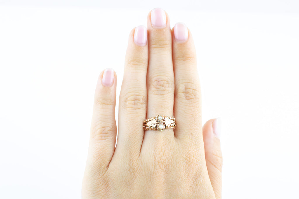French Antique 18ct Gold Pearl Ring