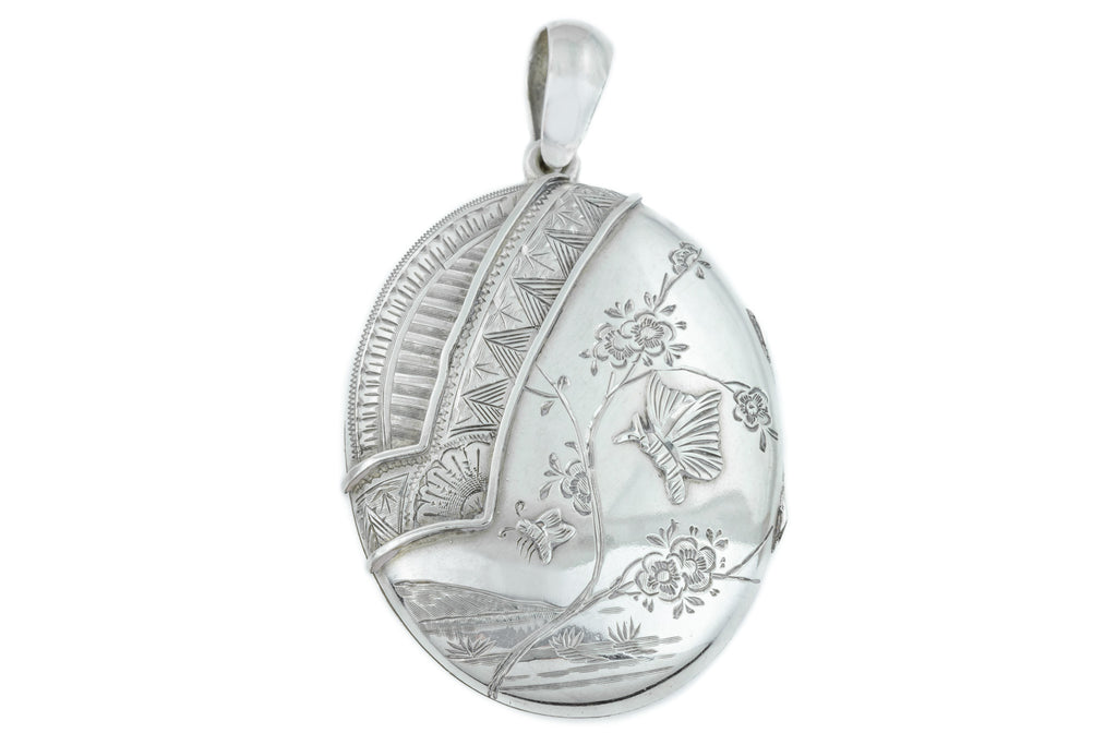 Victorian Aesthetic Silver Locket