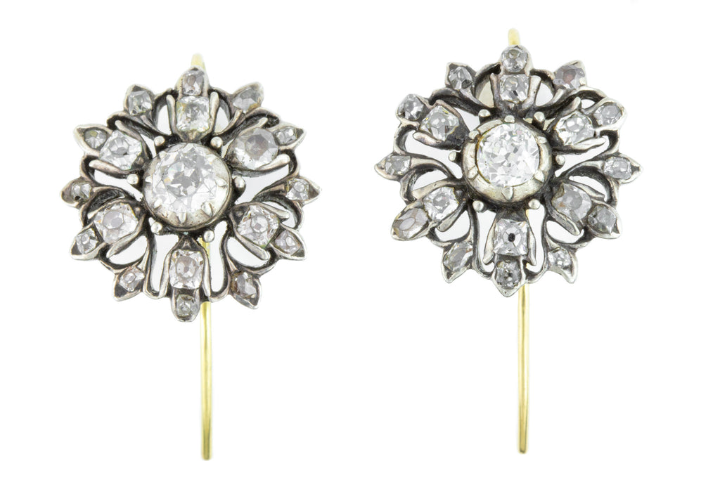 Georgian Diamond Giardinetti Earrings c.1780