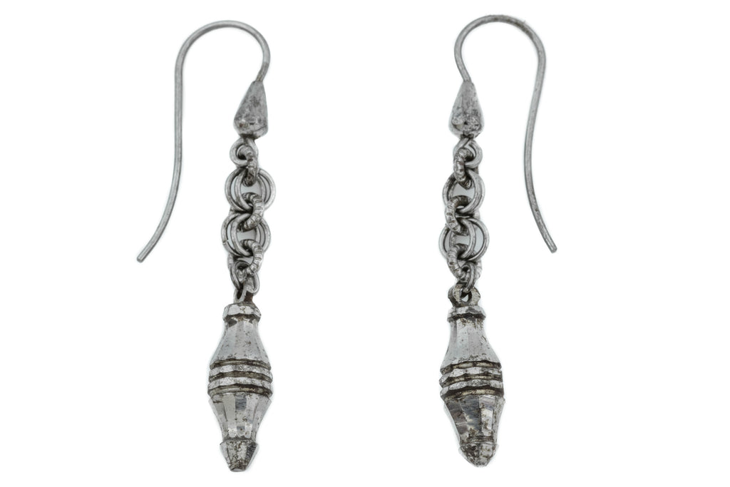 Georgian Cut Steel Drop Earrings c.1800