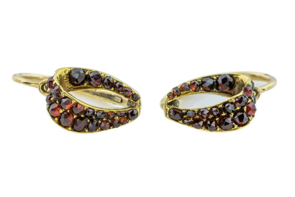 15ct Gold Antique Garnet Earrings