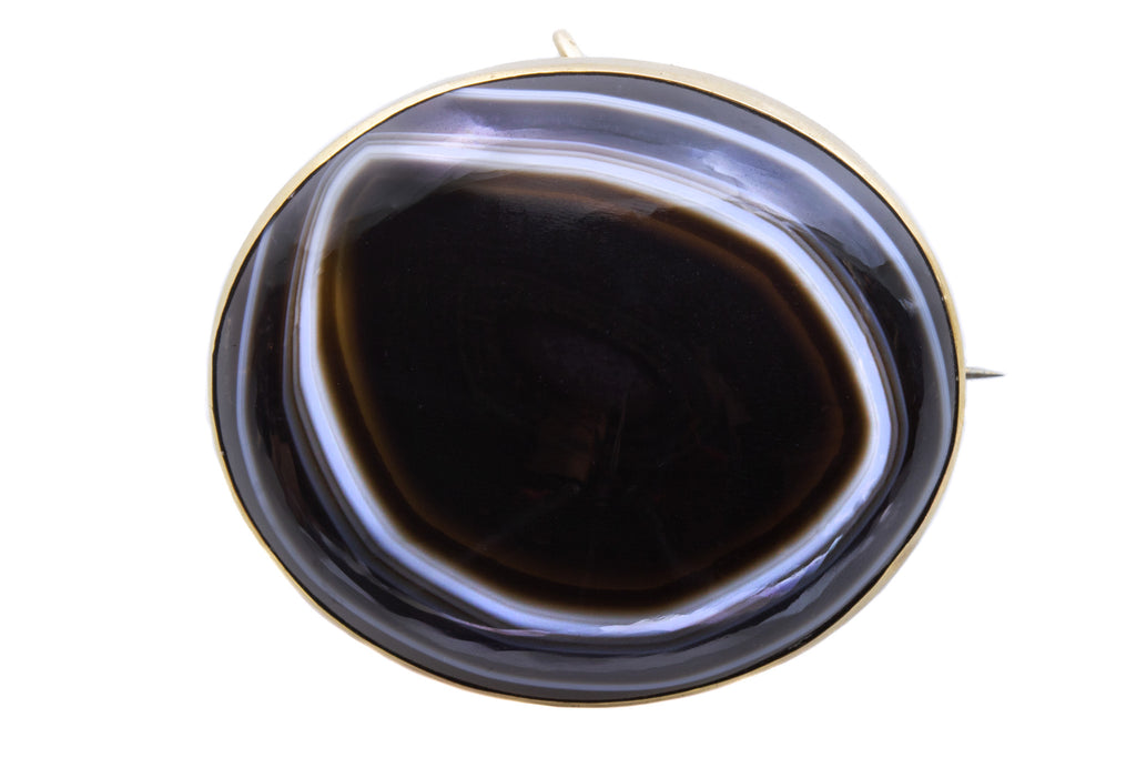 Victorian Agate Brooch Pendant