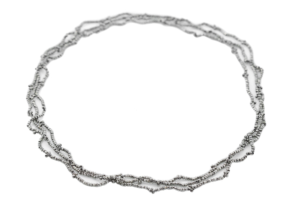 Georgian Cut Steel Sautoir Necklace, 51""