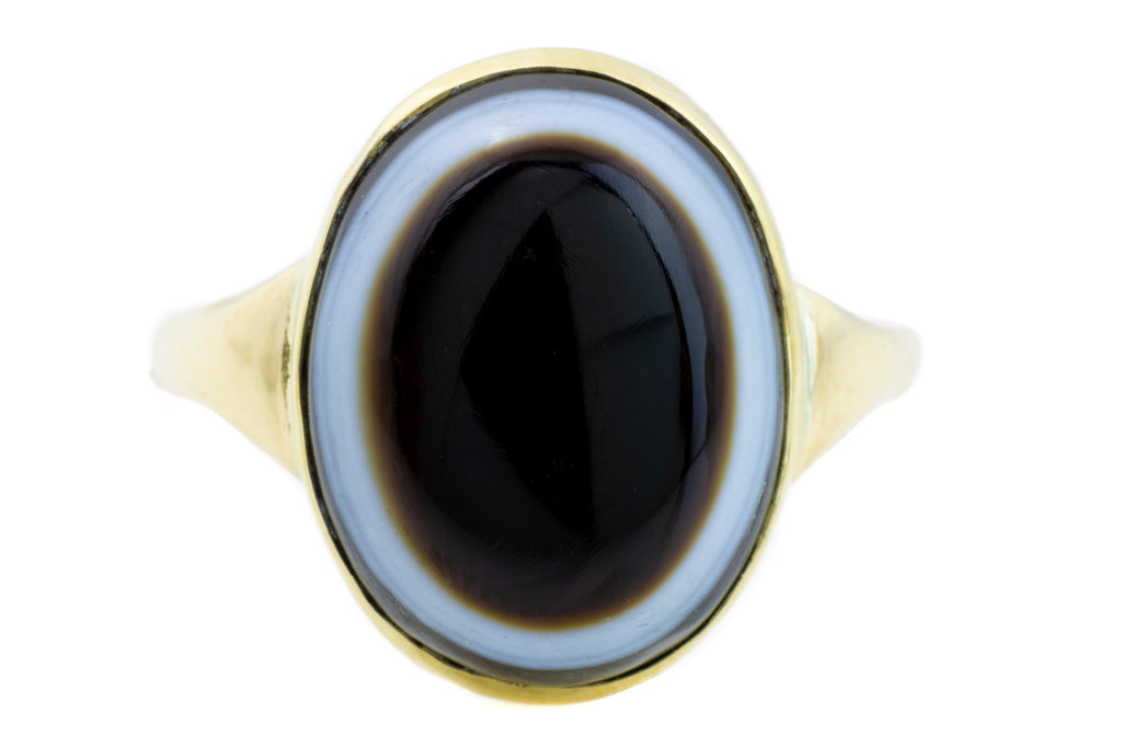 15ct Gold Banded Agate Ring