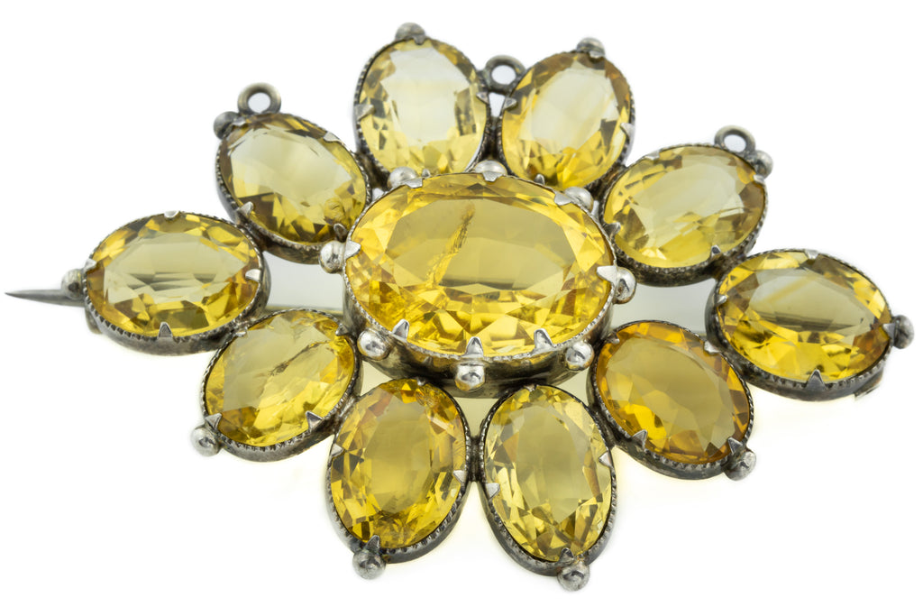 Antique Citrine Brooch (37.18ct)