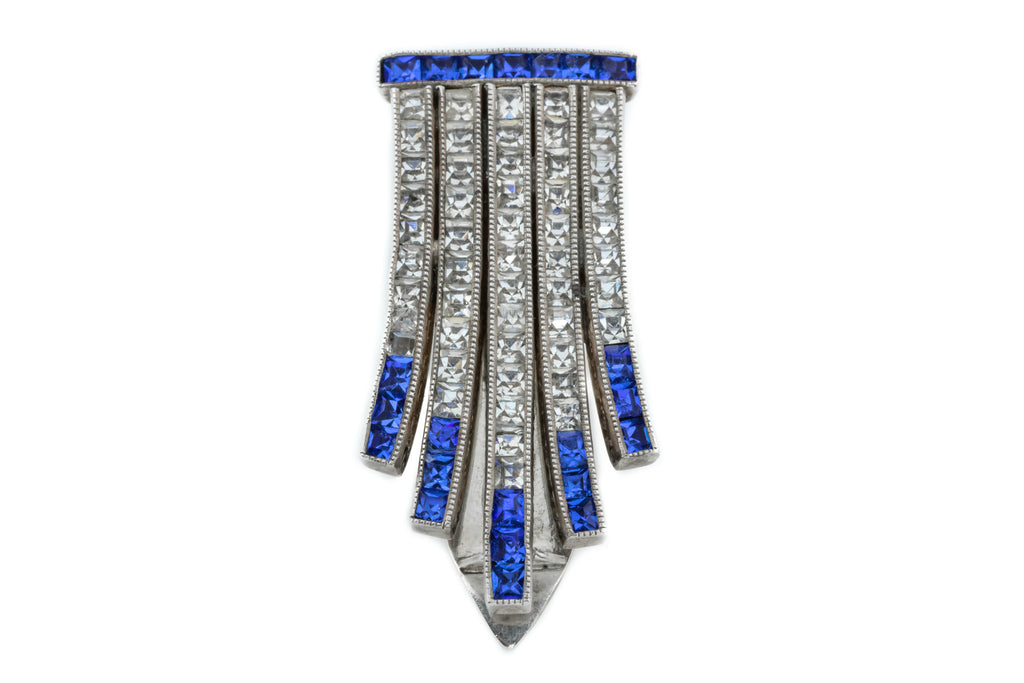 Art Deco Silver Paste Clip c.1920