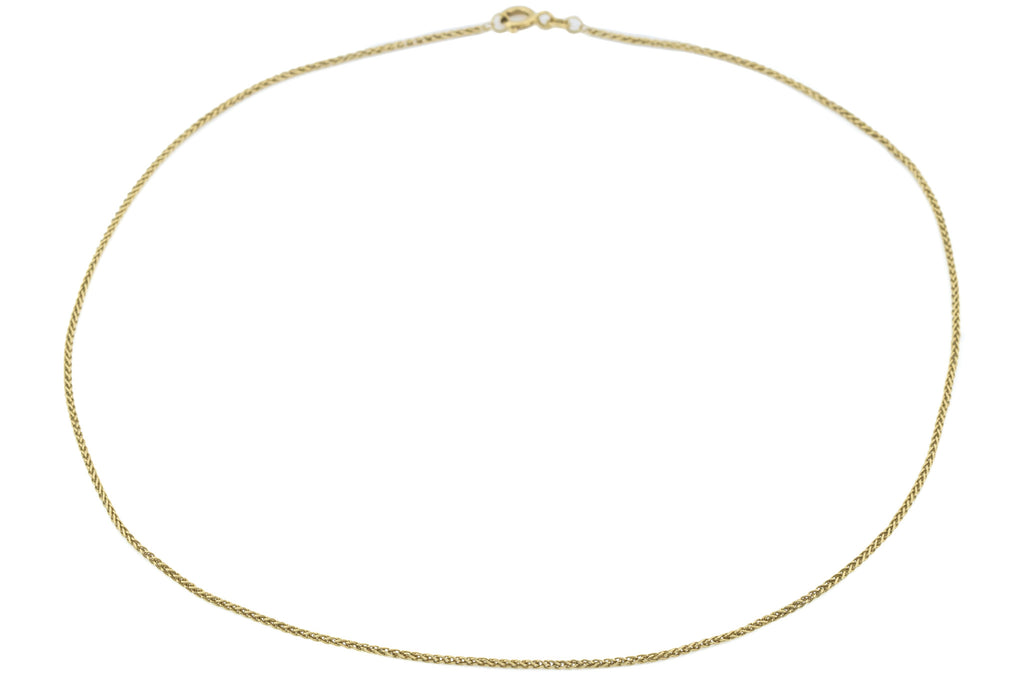 18ct Gold Antique Spiga Chain Necklace 3g