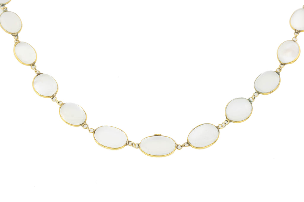 Antique 9ct Gold Moonstone Necklace (39.28), 28""